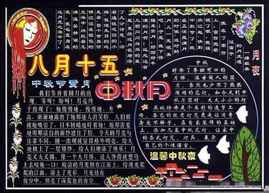 关于中秋节的黑板报图片及内容