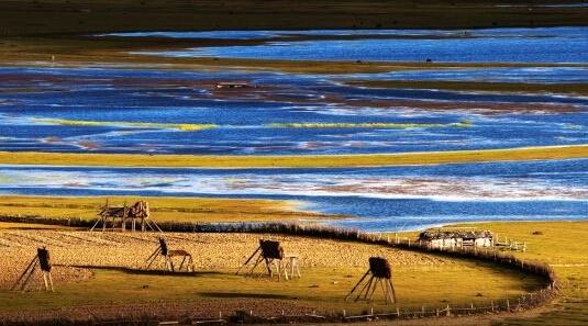 秋风景简笔画 海边