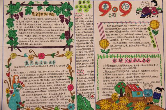 重阳节手抄报版面设计图图片