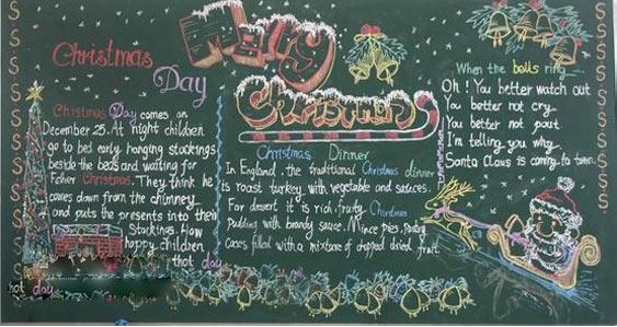 2015圣诞节英语黑板报