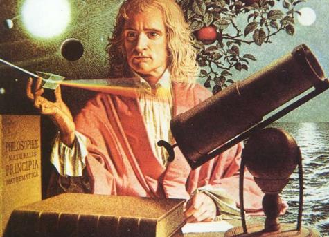 在籬笆下讀書的牛頓