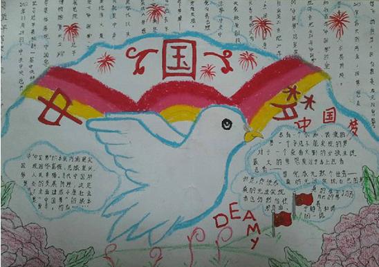 小学生中国梦手抄报