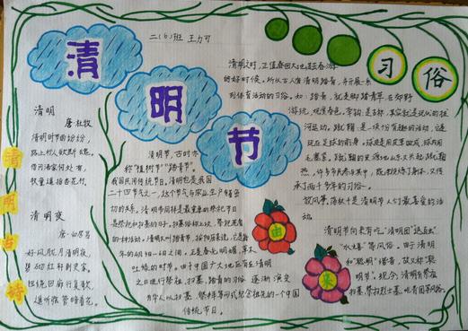 清明节习俗手抄报