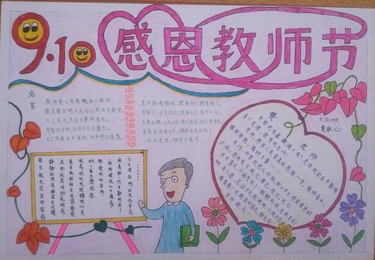 庆祝教师节手抄报