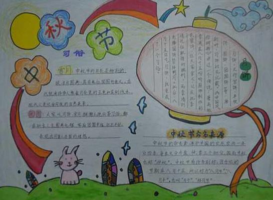小学生手抄报中秋节