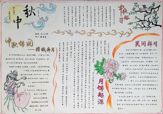 三年级手抄报中秋节